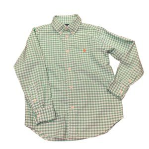 Ralph Lauren Green Gingham Check Shirt Boys Sz 6